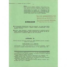 Keviczky von, Colman (ed): Memorandum