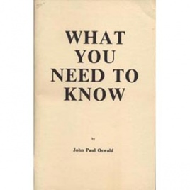 Oswald, John Paul: What you need to know (booklet)
