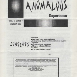Bulletin of Anomalous Experience (1990-1994)