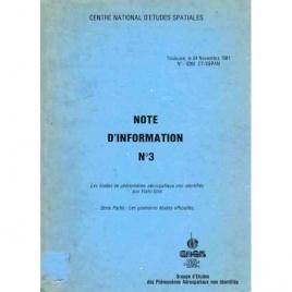 GEPAN: Note d'information no. 3. Les études de phénomènes aérospatiaux non identifies aux États-Unis. 2éme partie: Les premières études officielles