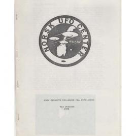 Ottesen, Per: Noen utvalgte UFO-sager fra 1970-årene