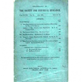 Proceedings of the Society for Psychical Research (1895-1934)