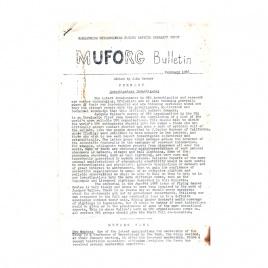 MUFORG Bulletin (1966-1967)