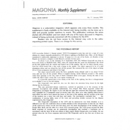 Magonia Monthly Supplement (1999-2000), collection