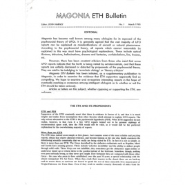 Magonia ETH Bulletin (1998), collection