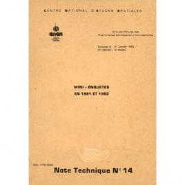GEPAN: Note technique no.14. Mini-enquêtes en 1981 et 1982