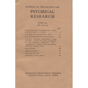 Journal of the Society for Psychical Research (1973) - March 1973, V47 No 755