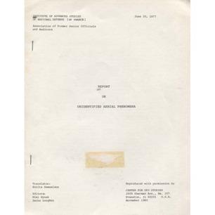 CUFOS: Hynek, Mimi & Longden, Sanna (ed.): Report on unidentified aerial phenomena
