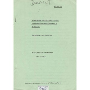Basterfield, Keith: A report on observations of UFOs from aircraft crew members in Australia - Good