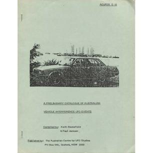 Basterfield, Keith & Jackson, Paul: A prelimininary catalogue of Australian vehicle interference UFO events