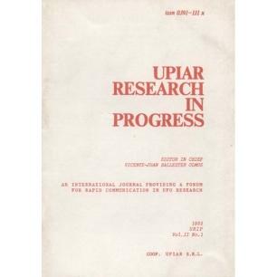 UPIAR Research in Progress. Vol. II, n. 1