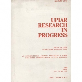 Ballester Olmos, Vicente-Juan (ed.): UPIAR Research in Progress. Vol. II, n. 2/3