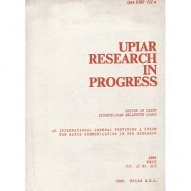 Ballester Olmos, Vicente-Juan (ed.): UPIAR Research in Progress. Vol. II, n. 2/3