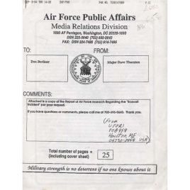 Weaver, Richard L.: Report of Air Force research regarding the