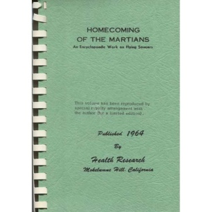 Dickhoff, Robert Ernst: Homecoming of the Martians. An encyclopedic work on flying saucers