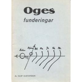 Gustafsson, Olof: Oges funderingar. Om vårt planetsystems tillkomstsätt
