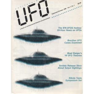 UFO Magazine (Vicky Cooper) 1986-1991 - v 1 n 1 - 1986 Sept/Oct