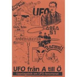Riskorganisationen UFO-Sverige: UFO från A till Ö