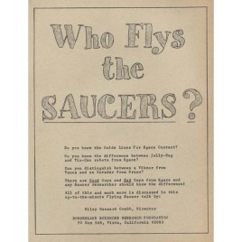 Crabb, Riley H.: Who flys the saucers?