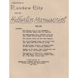 Hefferlin, Gladys & W.C.: A description of Rainbow City from the Hefferlin manuscript. Part One.