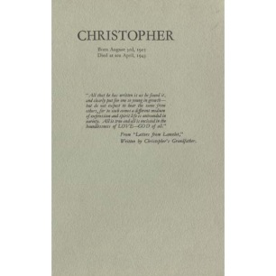 Tristram (Mrs): Christopher.