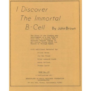 Brown, John: I discover the immortal B-cell.