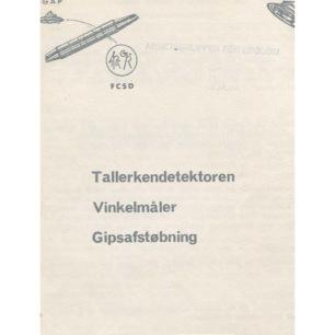 Petersen, Major H. C.: Tallerkendetektoren. Vinkelmåler. Gipsafstøbning