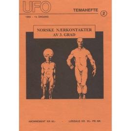 Røed, O-G: UFO Temahefte 2. 1994 - 13.årgång. Norske nærkontakter av 3. grad
