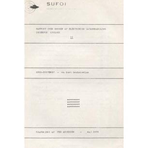 Andersen, Per : Rapport over brugen af elektronisk databehandling indenfor ufologi IV