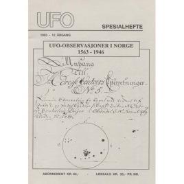 UFO-Norge (ed.): Tidskriften UFO Spesialhefte Årgang 1993 - 12. UFO-observasjoner i Norge 1563-1946