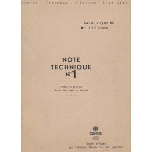 GEPAN: No-397 Note Technique Nr 1. Analyse du problème du pré-traitment des données