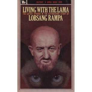 Rampa, T. Lobsang [Cyril Hoskins]: Living with the Lama (Pb) - Acceptable (1964) Quite big tear in front-cover that partly separates cover from spine.