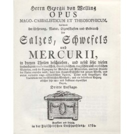 Welling von G.: Opus Magocabbalisticum et theosophicum.
