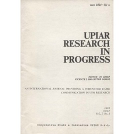 UPIAR Research in Progress. Vol. I, n. 2