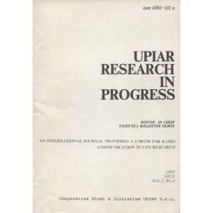 UPIAR Research in Progress. Vol. I, n. 2