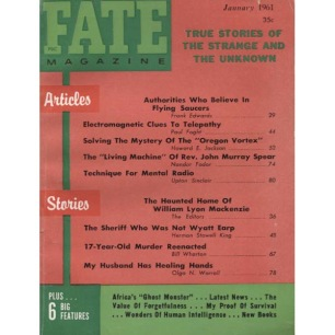 Fate Magazine US (1961-1962) - 130 - v 14 n 1 . Jan 1961