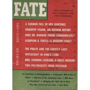 Fate Magazine US (1965-1966) - 178 - v 18 n 1 . Jan 1965