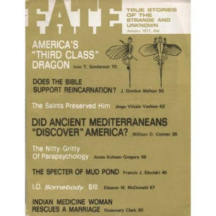 Fate Magazine US (1971-1972) - 250 - v 24 n 1 . Jan 1971
