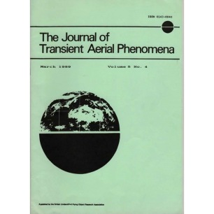 Journal of Transient Aerial Phenomena (1979-1989) - COMPLETE collection, 19 issues