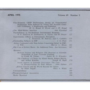 Journal of the American Society for Psychical Research (1975-1978) - Vol 69 n 2 - April 1975