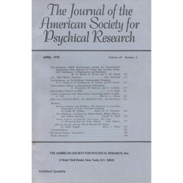 Journal of the American Society for Psychical Research (1975-1978)