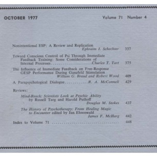 Journal of the American Society for Psychical Research (1975-1978) - Vol 71 n 4 - Oct 1977