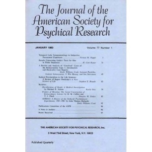 Journal of the American Society for Psychical Research (1979-1986)