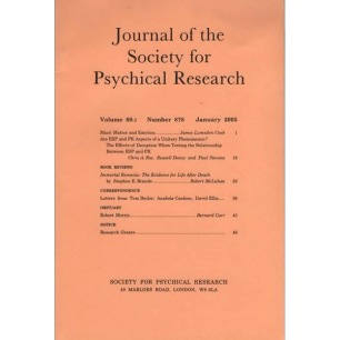 Journal of the Society for Psychical Research (1922-2010)