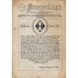 Proceedings (College of Universal Wisdom 1953-1958)