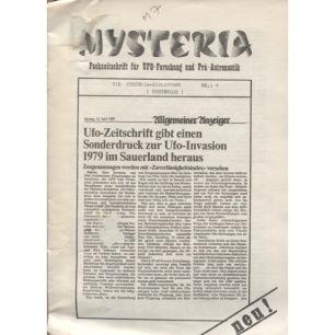 Mysteria; Fachzeitschrift für UFO-Forschung und Prä-Astonautik (1981 - 1982) - Die Mysteria-biliothek, No.1