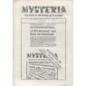 Mysteria; Fachzeitschrift für UFO-Forschung und Prä-Astonautik (1981 - 1982) - Die Mysteria-bibliothek, No. 2