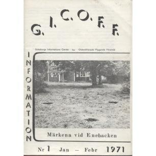 GICOFF-Information (1970-1978) - No 1 Jan/Feb 1971