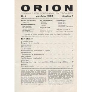 Orion (1965) - No 1 Jan/Feb 1965