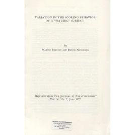 Johnson, Martin & Nordbeck, Bertil: Variation in the scoring behavior of a